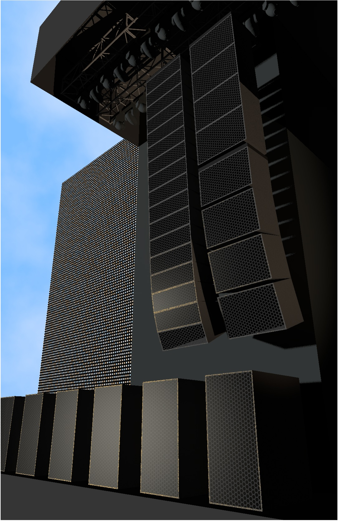 Line array dans Vectorworks